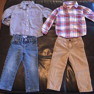 3T Boys Bundle Deal!!! Gap jeans and Carter shirt!